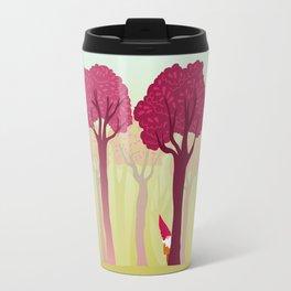 colorful forest with cute dwarf Travel Mug