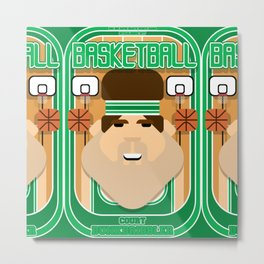 Basketball Green - Court Dunkdribbler - Bob version Metal Print