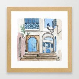 Blue Doors in Sidi Bou Said Framed Art Print