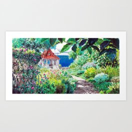 Hotel Adriano from the Ghibli film Porco Rosso Art Print
