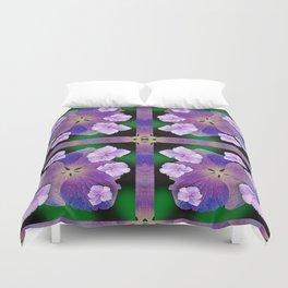 LACECAP HYDRANGEA FLOWER BOUQUET  Duvet Cover