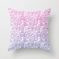 Curly & The Monster Factory Throw Pillow