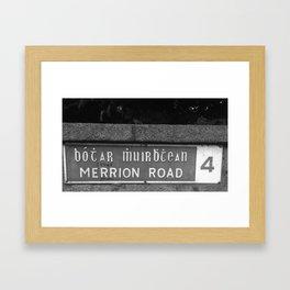 Merrion Black White Framed Art Print