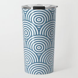 Scales - Blue & White #453 Travel Mug
