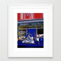 moto Framed Art Prints featuring Moto by Davey Charles