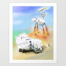 For a Moment I Thought They Weren't Coming  Art Print