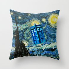 Flying Tardis doctor who starry night iPhone 4 4s 5 5c 6, pillow case, mugs and tshirt Throw Pillow
