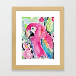 SCARLET THE MACAW Framed Art Print