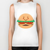 burger Biker Tanks featuring Burger by AnishaCreations