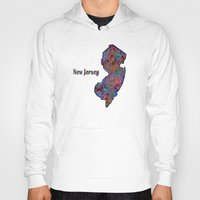 new jersey Hoodies featuring New Jersey by gretzky