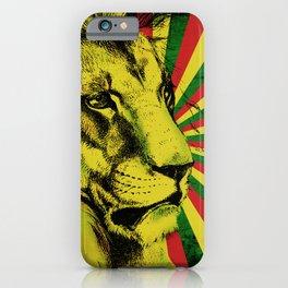 Rasta Lion / Rastafarian Red Gold Green Lion iPhone Case