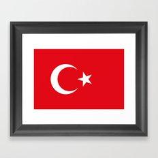 Flag of Turkey Framed Art Print