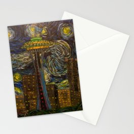 Seattle Starry Night Stationery Cards