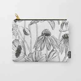 flower party black and white Carry-All Pouch