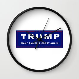 trump make america great again Wall Clock
