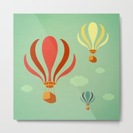 Hot Air Balloon Ride Metal Print