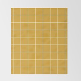 9x Yellow Grid Lines Throw Blanket
