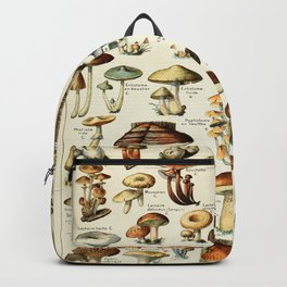 Vintage Mushroom & Fungi Chart by Adolphe Millot Backpack