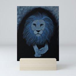 Lion Animal Guide Mini Art Print