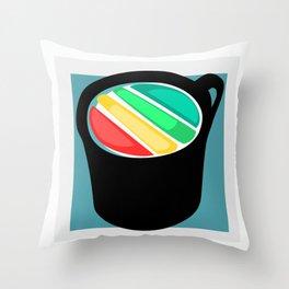 Rainbow in my Coffee Throw Pillow