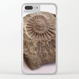 Ammonite of stone. Clear iPhone Case