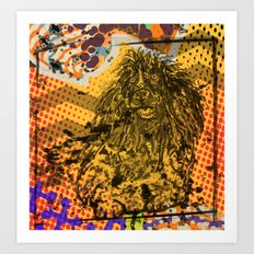 Poodle pop art Art Print