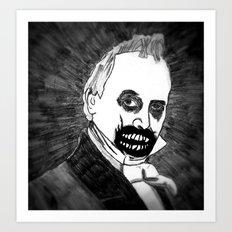 15. Zombie James Buchanan  Art Print