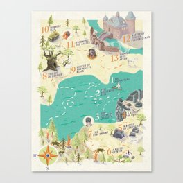 Princess Bride Discovery Map Canvas Print