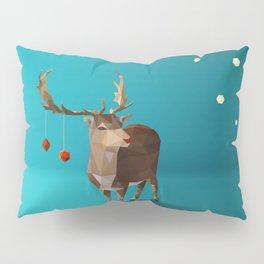 Low Poly Reindeer Pillow Sham