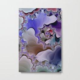 colorful fractal spirals -123- Metal Print