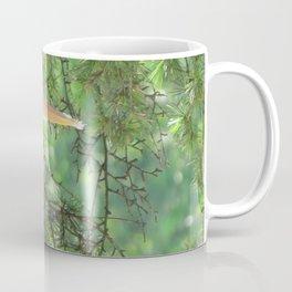 Grey heron (Ardea Cinerea) amongst trees Coffee Mug