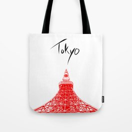 Tokyo Tower Tote Bag