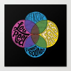 Lou Reed, Farts Canvas Print