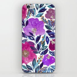 hand painted flowers_2 iPhone Skin