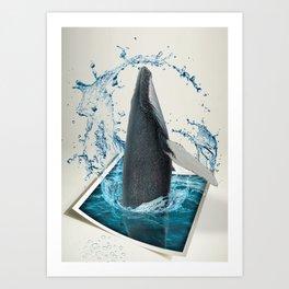 Dancing Whale Art Print