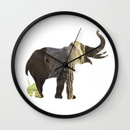 Elephant Cutout 2 Wall Clock