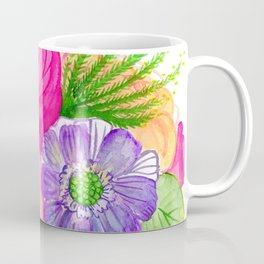 electricflora teacup watercolor Coffee Mug