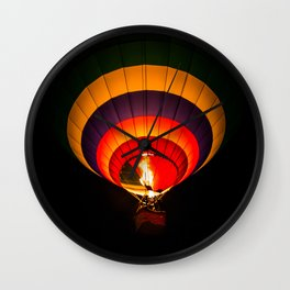 Night hot air balloon adventure Wall Clock