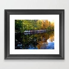 canal art Framed Art Print