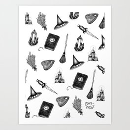 Witchy Pattern - coracrow Art Print
