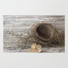 Found Bird Nest Rug