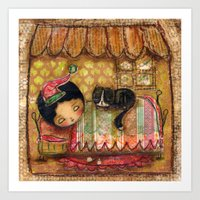 Sleep Tight My Darling One Art Print