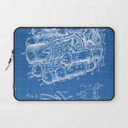 Airplane Jet Engine Patent - Airline Engine Art - Blueprint Laptop Sleeve