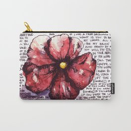 Juno Flower Carry-All Pouch