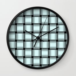 Large Light Cyan Weave Wall Clock