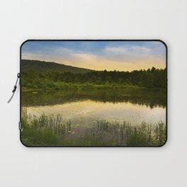 Aqua Sunset Landscape Laptop Sleeve