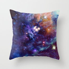 Bright nebula Throw Pillow
