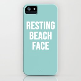 Resting Beach Face iPhone Case