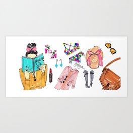 Fashion 101 Coffee Mug, Pinales Illustrated Art Print
