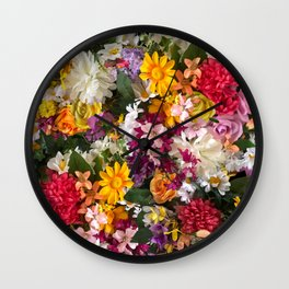 Cottage Flower Wall Wall Clock